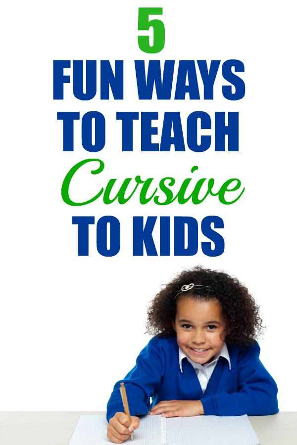 Our school system no longer teaches cursive handwriting. Here are some fun ways I found to teach cursive handwriting at home. | cursive writing | teach cursive writing