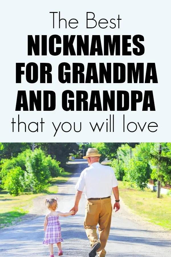 Fun nicknames for grandma she will love. Plus nicknames for Grandpa too. Includes international names.