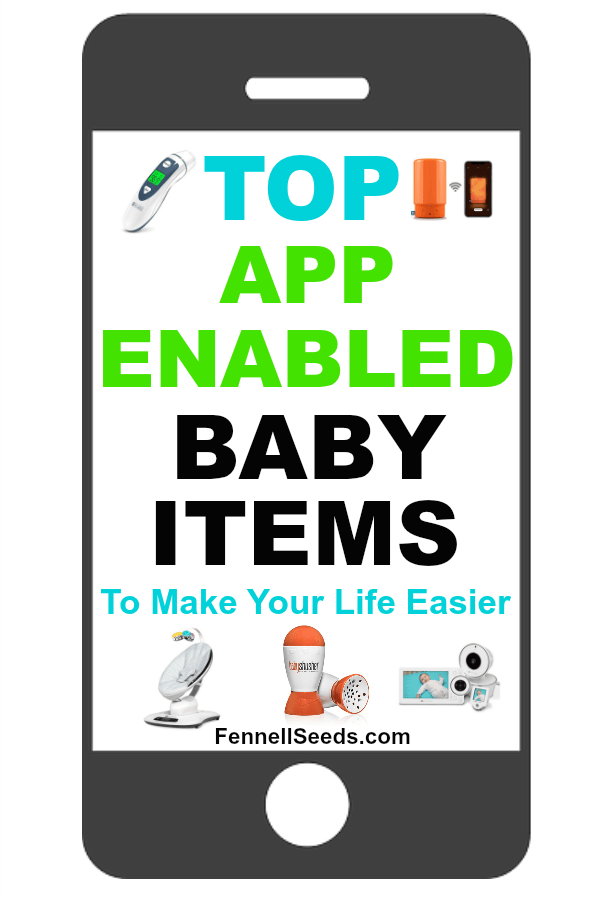 High tech baby gadgets can make life with a newborn so much easier. Here are the top baby technology items to help you. #babytech #babytechnology #babygadgets