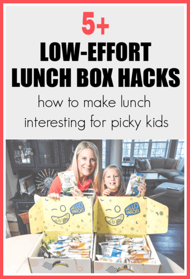 How to make kids lunch boxes more exciting. Super easy low-effort ways to put a little excitement into your kids lunchbox. #ad #whatsforlunch #HELLOSNACKS #lunchboxideas