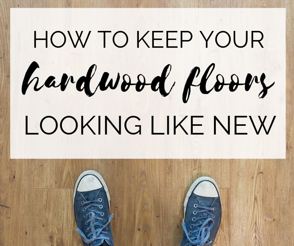 How to repair scratches and deep clean your hardwood floors to keep them looking new. #hardwoodfloors #cleaningtips #hardwood