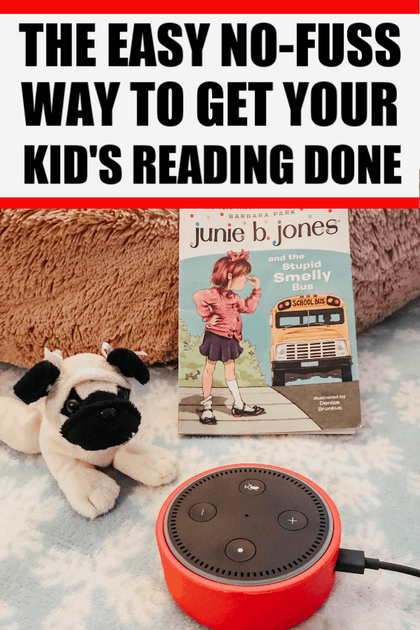 Great tip to get required reading for kids done quickly with no tears. #readingtips #kidsreading