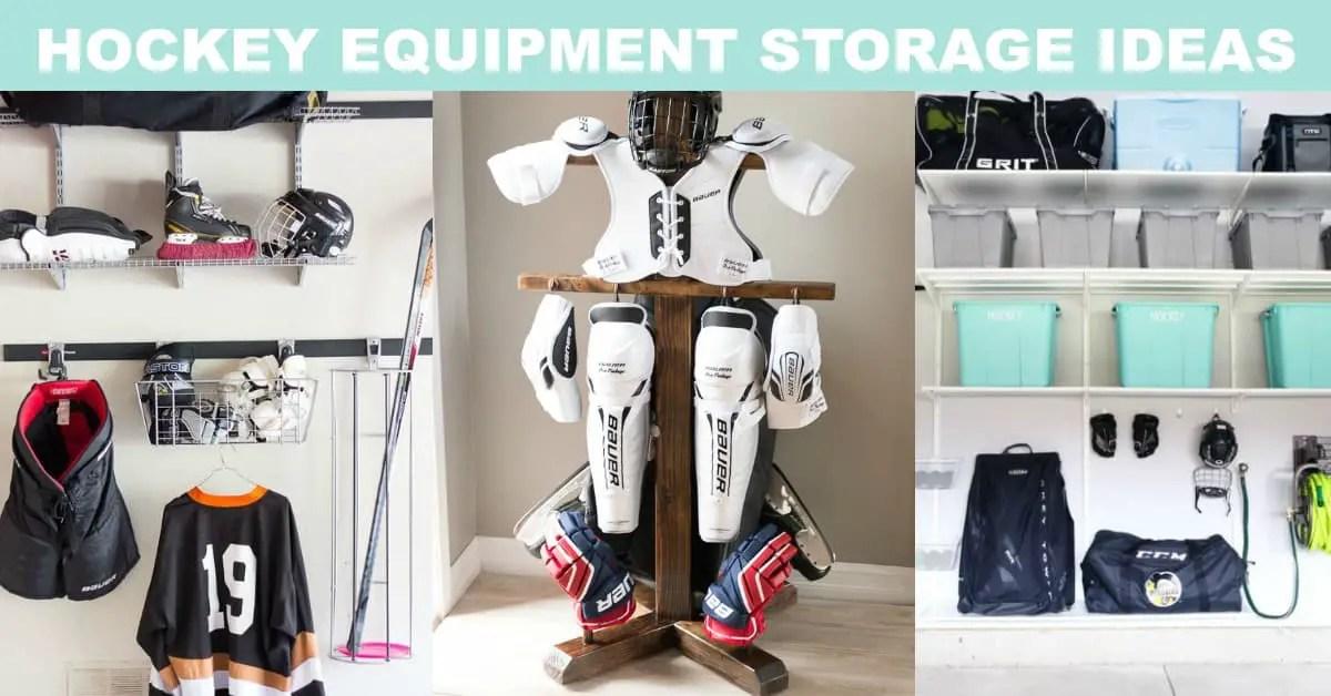 Hockey equipment storage | Garage organization | Sports Equipment Storage Ideas | sports equipment organization