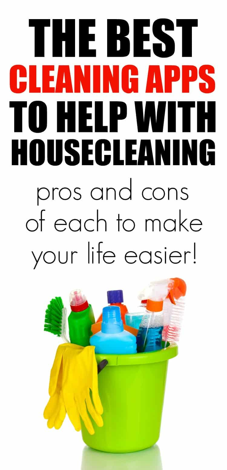 The best cleaning apps to help with keeping your house clean. #cleaningtips #flylady