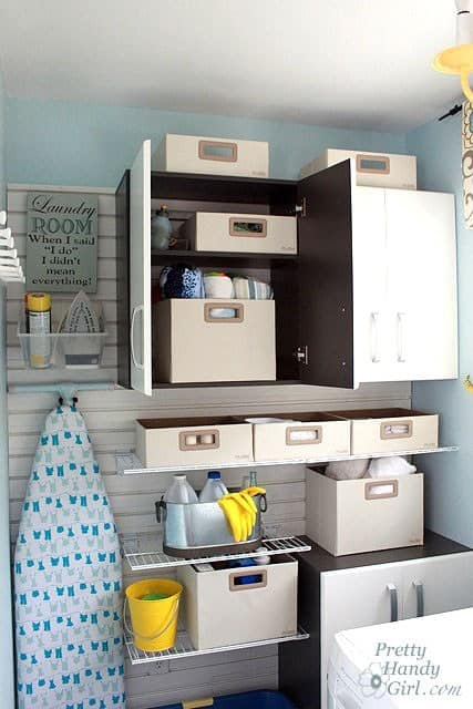 DIY Laundry Room Organization Hacks. Some fun and creative ways to make your laundry room more functional and pretty.