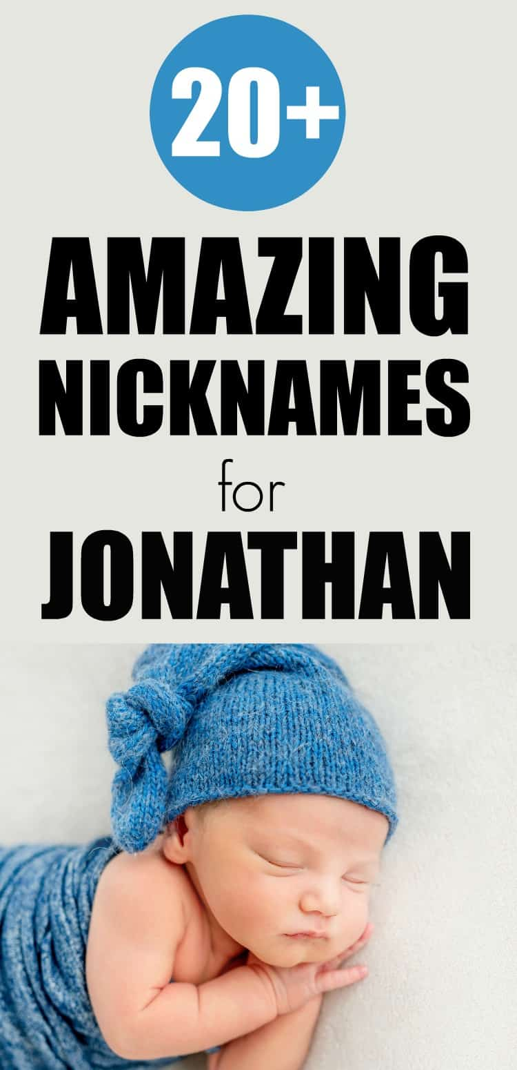 Over 20 of the best nicknames for Jonathan that you will love. Includes definition and variations of Jonathan and how to pick a nickname for this handsome name. #nicknames