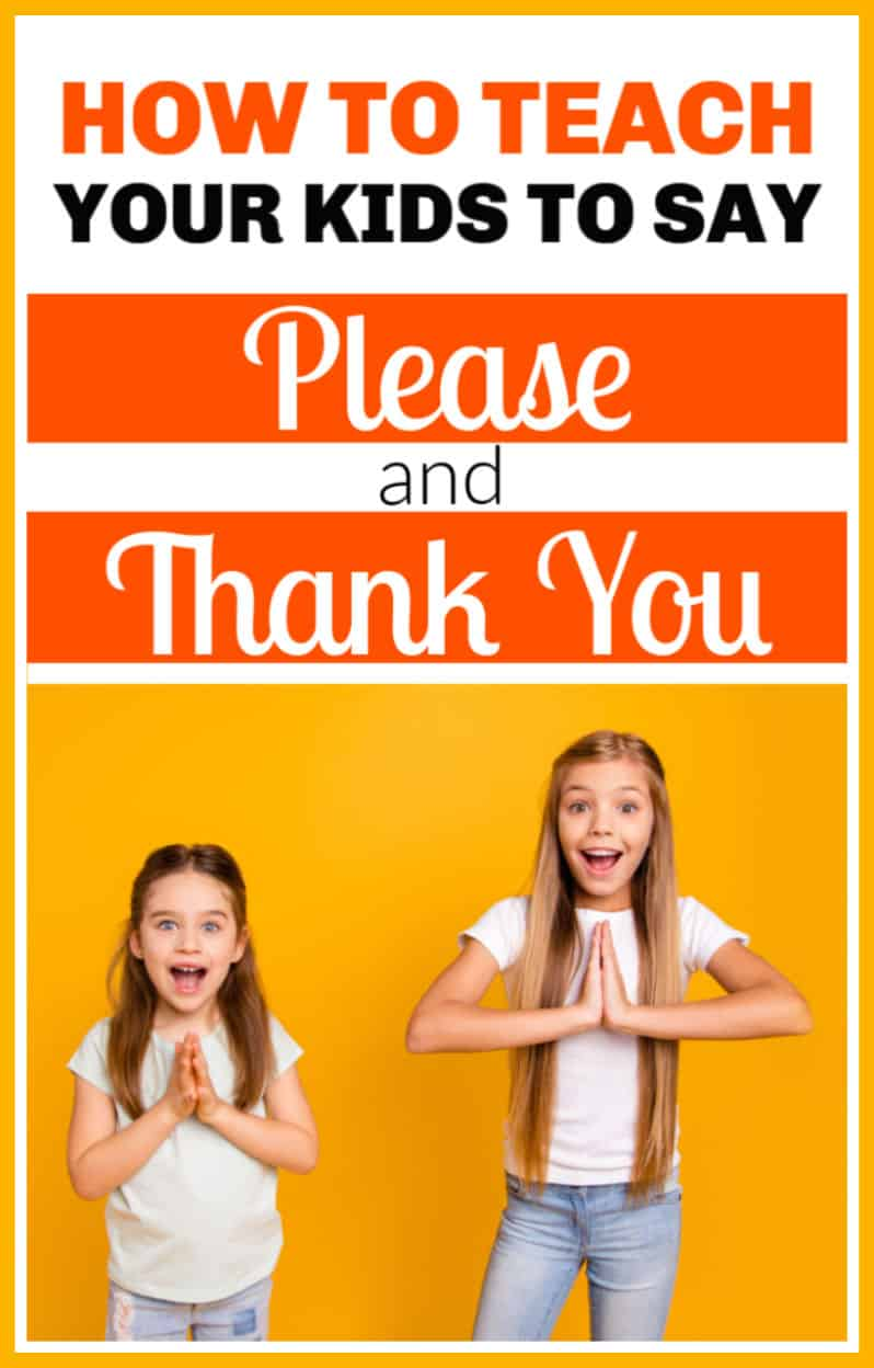 How to teach kids to say please and thank you. Teaching kids manners is important but sometimes kids need a little nudge to remember. #manners