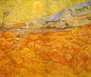 wheat-field-behind-saint-paul-hospital-with-a-reaper-1889