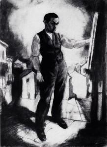 Autoportret-przy-sztalugach-malarskich-1920