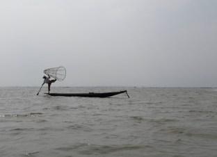 pêcheur, lac Inlé