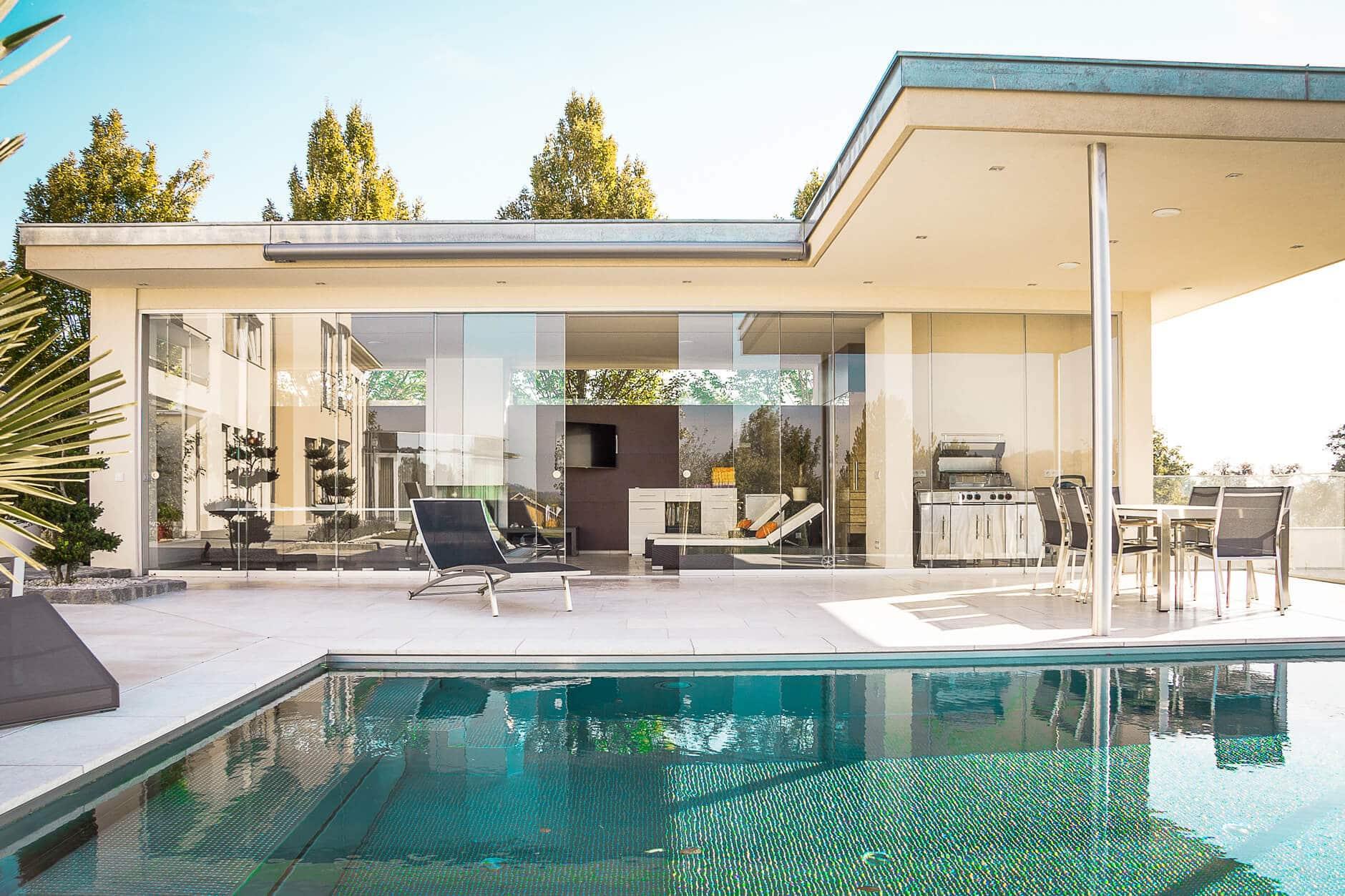 Windschutz Terrasse Glas Faltbar Balkonfacher Seitenfacher
