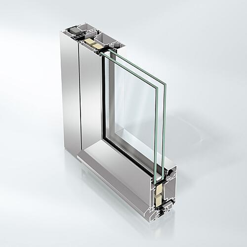 aluminium exterior glass door schuco ads 70 hi classic