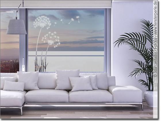 Fensterfolie Pusteblume  Fensterperlede
