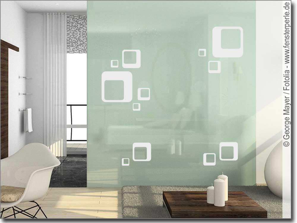 Glastattoo Retrodesign  Fensterperlede