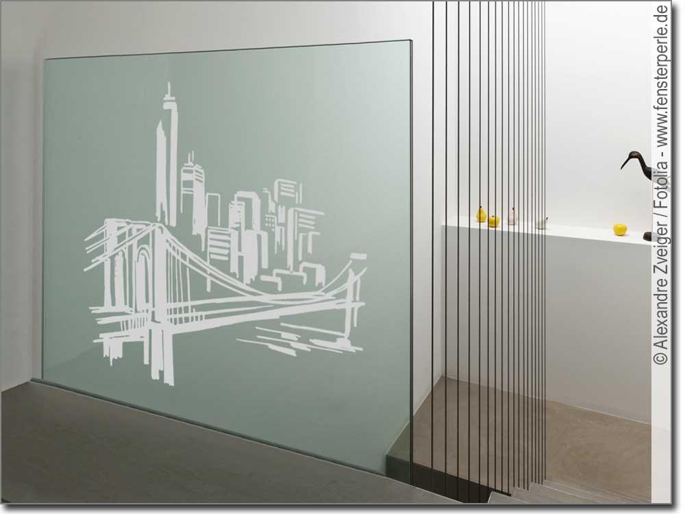 Glasaufkleber Skyline  Fensterperlede