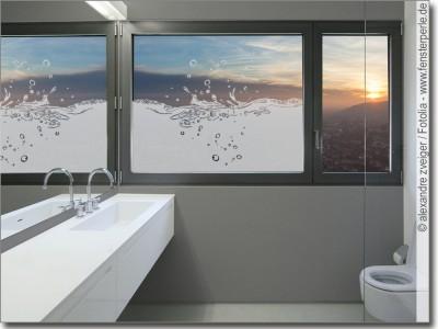 Sichtschutz oder Deko fr Bad  WC  Maanfertigung