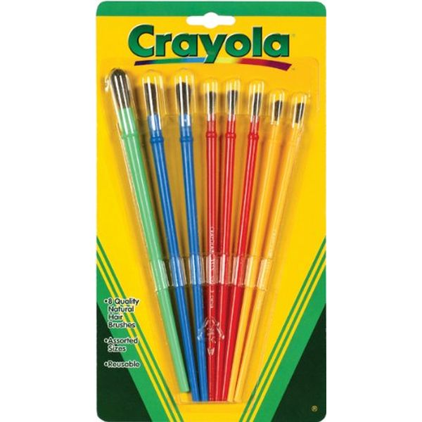 Crayola Paint Brushes 8 Pack Kuwait Gifts And