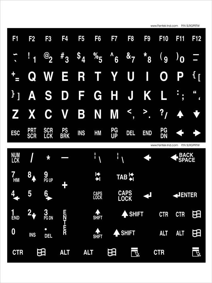 Large Print Keyboard and Large Print Keytop Labels