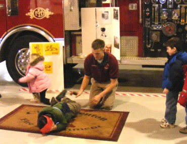 Stop Drop and Role Fire education for kids