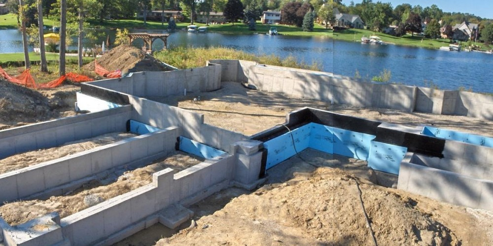 Lake Home Poured Wall Foundation