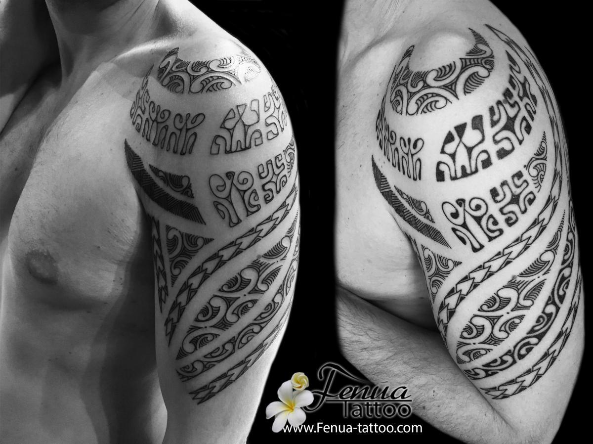 Tatouage Polynesien Tribal Et Maorie Bras épaule