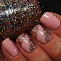 Latest 50 Simple Glitter Nail Art designs to Go With