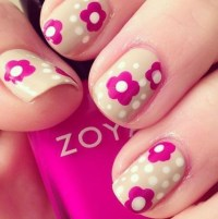 45 Easy Flower Nail Art Designs for Beginners