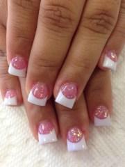 cute pink nail art design