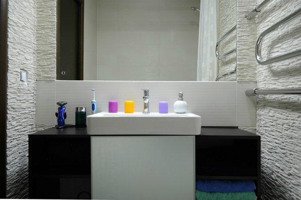 Ванная комната из декоративного камня