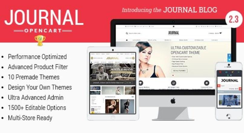 Journal v 2.3 — Advanced Opencart Theme Framework