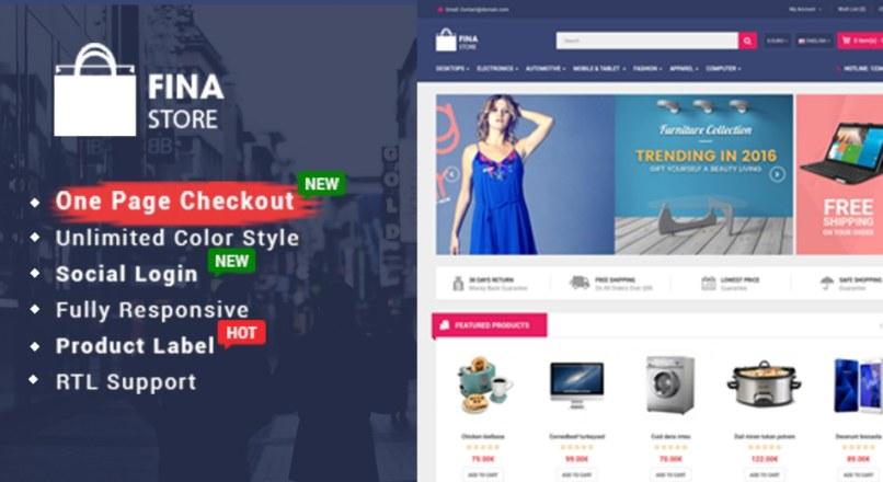 So Fina — Multipurpose eCommerce OpenCart Theme