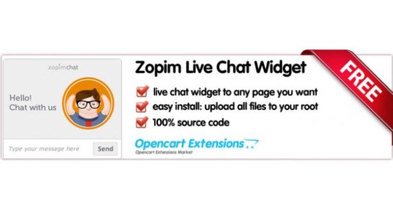 Zopim Live Chat Widget — OpenCart 2.X