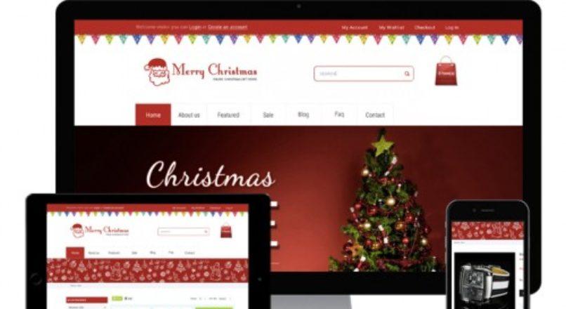 Opencart — Christmas theme — Шаблон для новогодних подарков