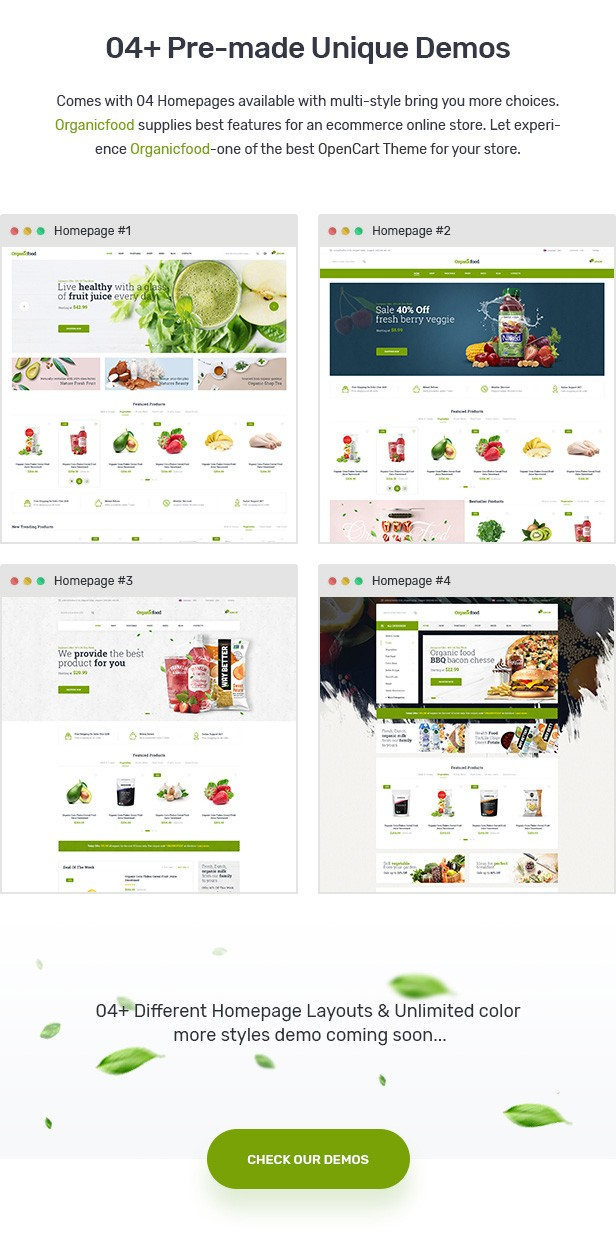 OrganicFood - Food, Alcohol, Cosmetics OpenCart Theme (Included Color Swatches)