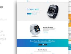 FlexApp — HTML Landing Page Template