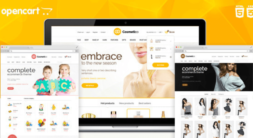 Cosmetico — Responsive OpenCart Template