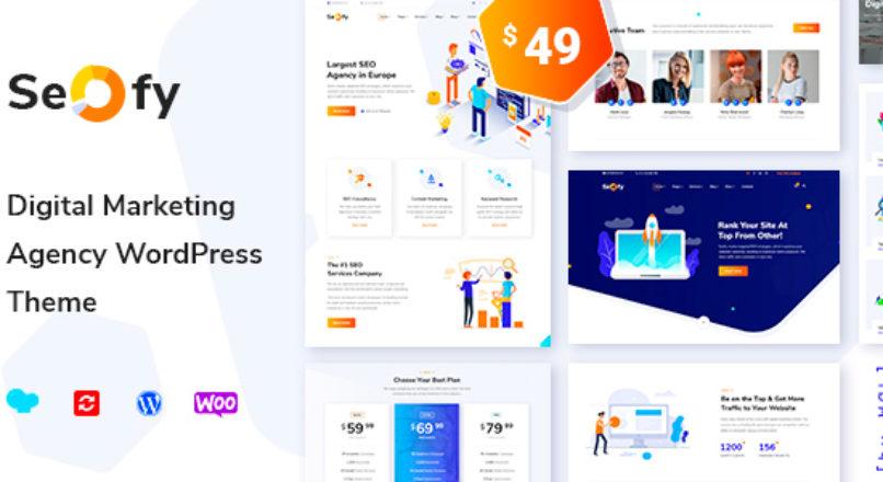 Seofy v1.3 — шаблон для Digital агентства WordPress