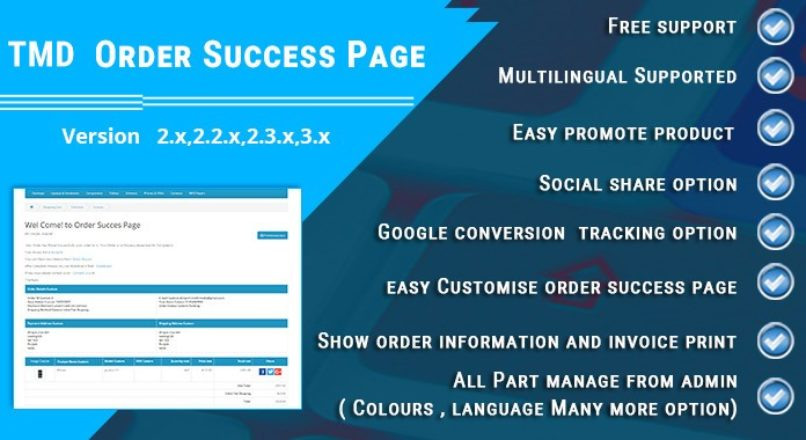 Order Success Page — Opencart 2.x-3.x