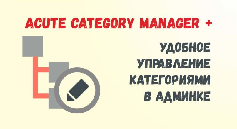 Acute Category Manager для Opencart 3.0