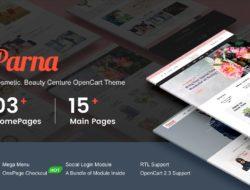 Parna — Multipurpose Responsive OpenCart 2.3 Theme | Cosmetic | Beauty Center | Fashion Store