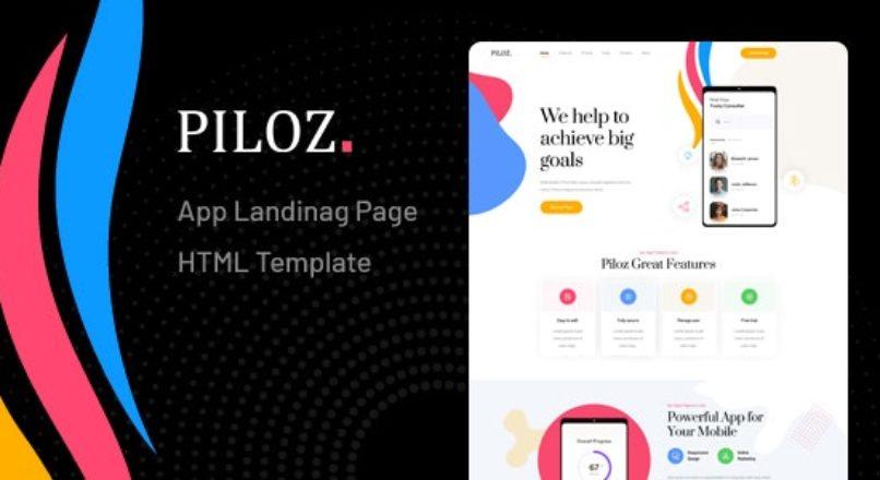 Piloz — App Landing Page HTML Template