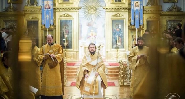 Литургия апостола Иакова в СПбДА. Предстоит архиепископ Амвросий