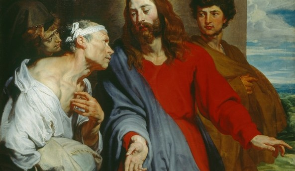 Anthony van Dyck (1599-1641). Christ Healing the Paralytic c. 1619
