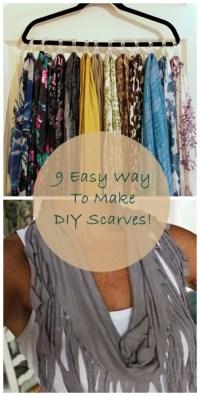 9 Easy Way To Make DIY Scarves!  Celebrity Fashion ...