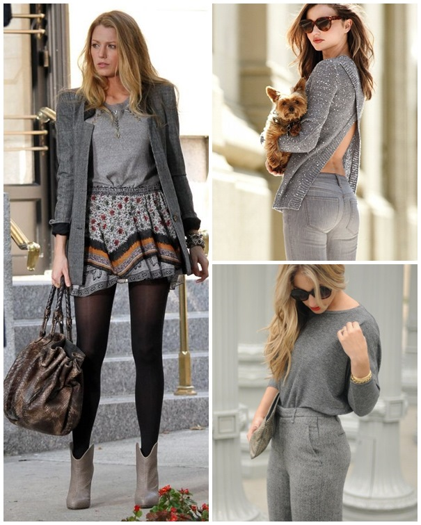 neutral gray outfits ideas 2016