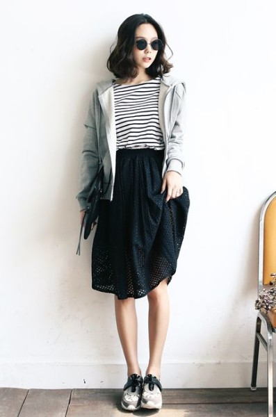 How To Wear Skirt In Korean Daily Fashion Style