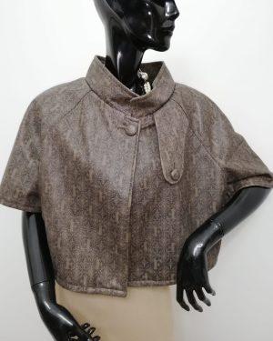 mantellina patermo donna in pelle colore marrone