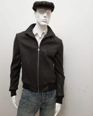 Giubbotto Patermo Uomo in Pelle Martellata, colore Marrone, giacca alta qualità artigianale