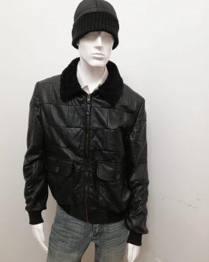 Giubbotto Patermo Uomo in Pelle nappa, colore Nero, giacca modello Aviatore qualità artigianale