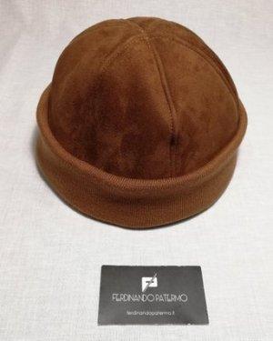 Zuccotto Patermo in Montone rovesciato e Lana, colore Marrone, uomo donna, cappello qualità artigianale